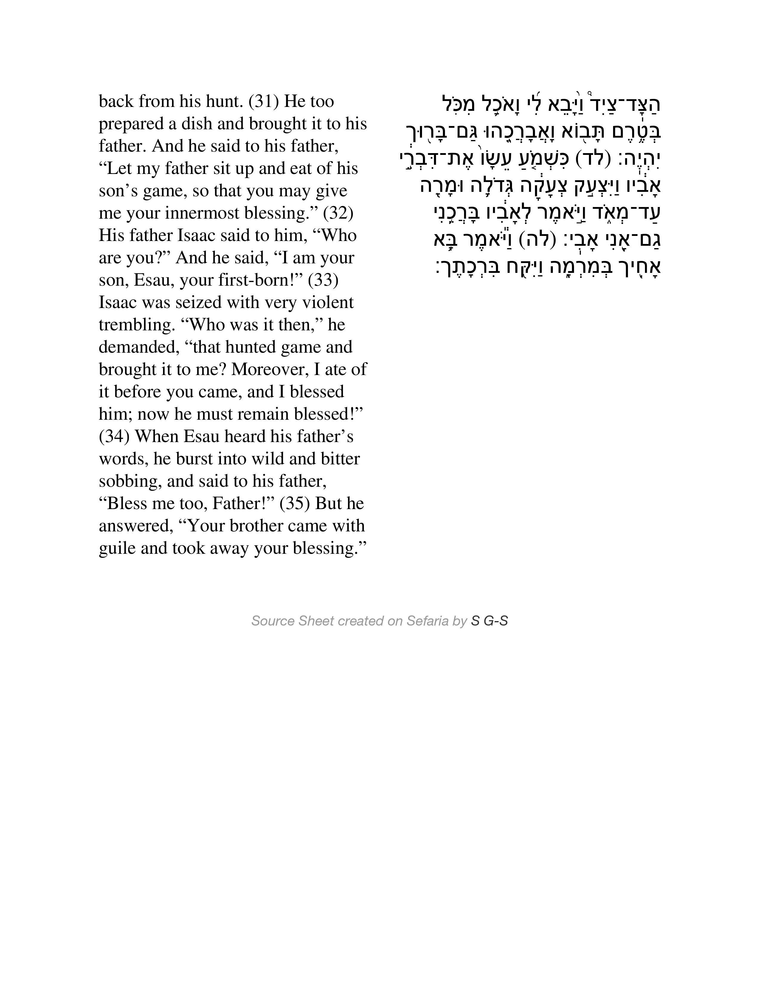 Isaac, Jacob, and Esau 4