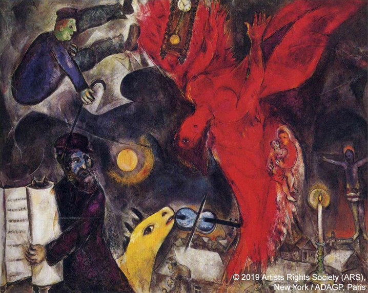 Marc Chagall, The Falling Angel