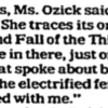 Cynthia Ozick Interview Excerpt
